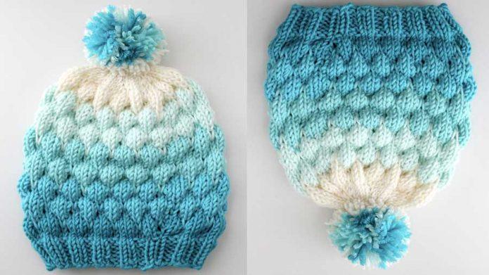 Bubble Beanie Hat Pattern for Knitters | Studio Kn