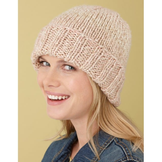 Simple Hat Pattern (Knit) - Lion Brand Ya