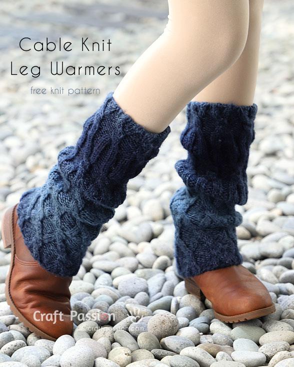 Cable Knit Leg Warmers - Free Knitting Pattern | Craft Passion