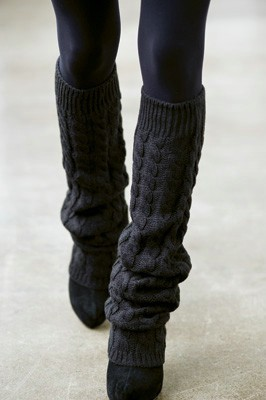 Knitted Leg Warmers on the Runway - knittingisawesome.c