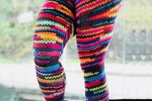 Colorful Knitted Leggings - Total Magic - Leggin
