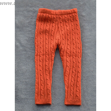 K150948, China 100% Cotton Cable Pattern Kids Knitted Leggings .