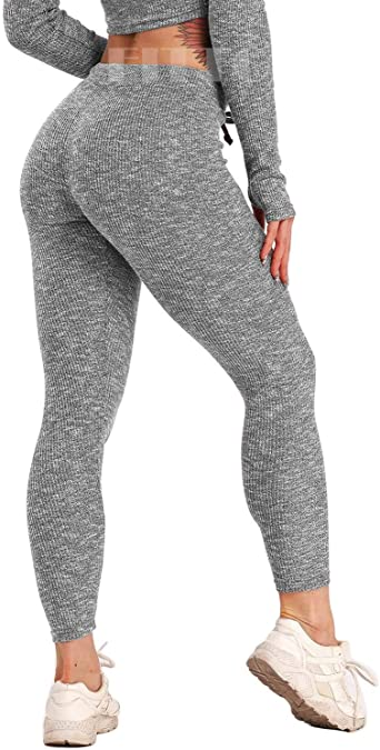 Amazon.com: FITTOO Women's Knitted Leggings Stretch Yoga Pants .