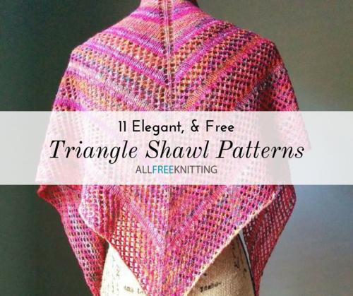 11 Triangle Shawl Knitting Patterns (Free) | AllFreeKnitting.c
