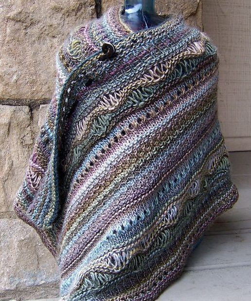 Free knitting pattern for Stitch Sampler Shawl and more sampler .