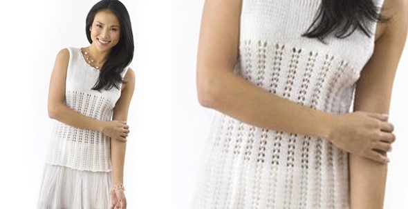 Knitted Lacy Tank Top [FREE Patter