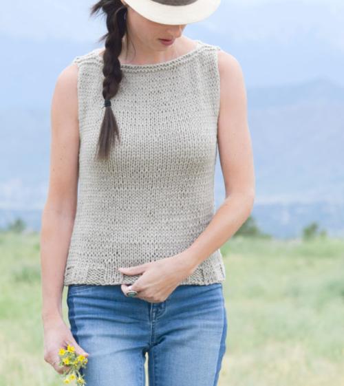 Easy Knit Tank Top Pattern | AllFreeKnitting.c
