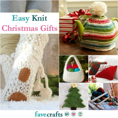 36 Easy Knit Christmas Gifts | FaveCrafts.c
