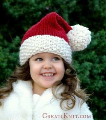 The Santa Hat Free Knitting Pattern - CreatiKnit a adorable free .