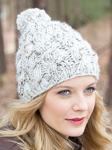 Free Knitting Pattern for Chunky Cable and Rib Hat | Cable knit .