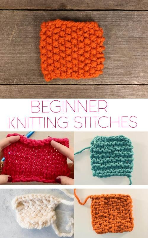 5 Basic Knitting Stitches for Beginners - Gina Miche