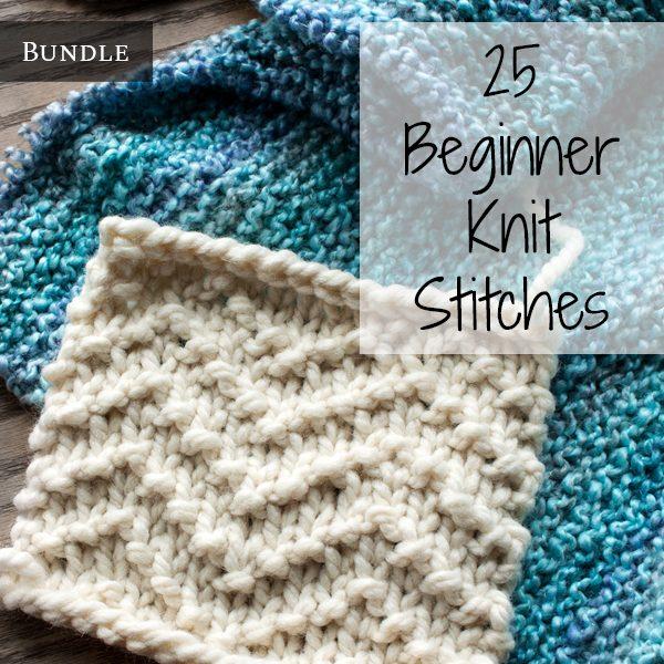 Top 25 Beginner Knit Stitches Bundle - Brome Fiel