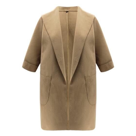 Shop Women Casual Trench Parka Jackets Slim Warm Long Ladies Coats .
