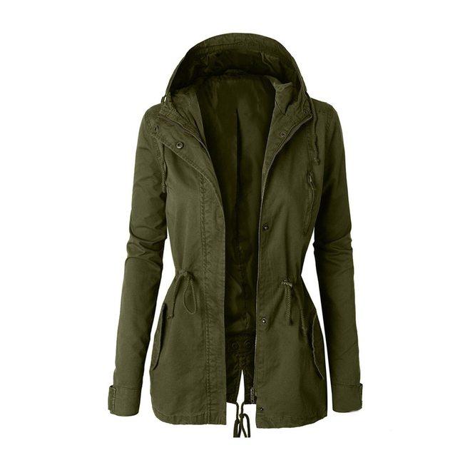 Autumn Winter Zipper Women Basic Jackets Casual Female Outerwear .