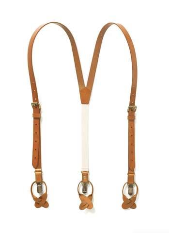 Leather Suspenders for Men - JJ Suspende