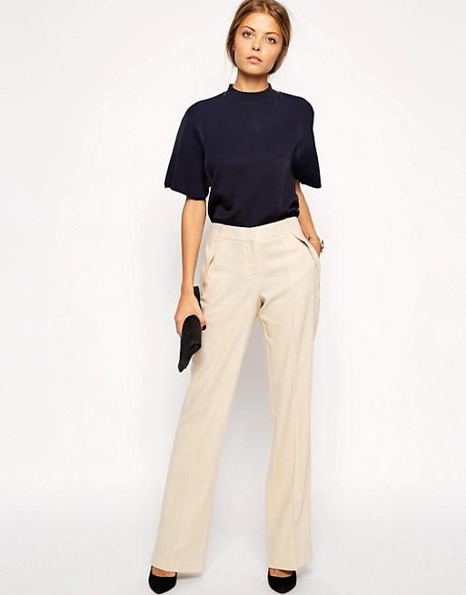 ASOS Linen Pants In Wide Leg | AS