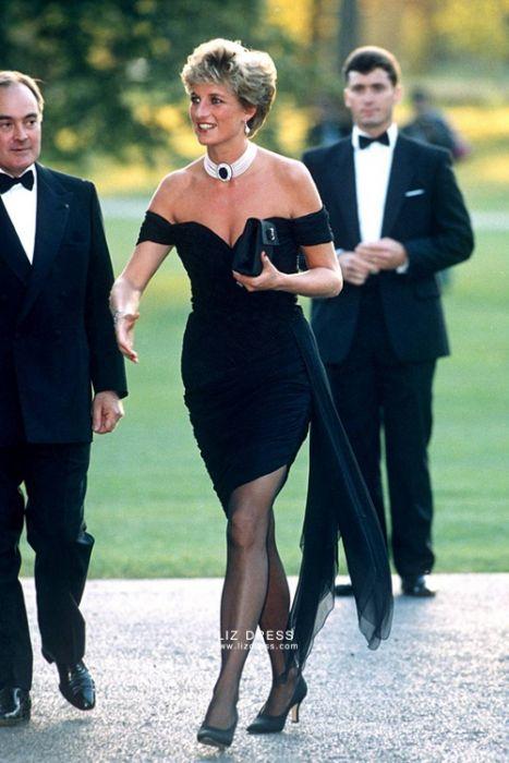 Princess Diana Little Black Off-the-shoulder Revenge Celebrity Dre