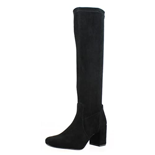 Buy Saint G Womens Black Stretch Suede Long Boots, Boot for Girls .