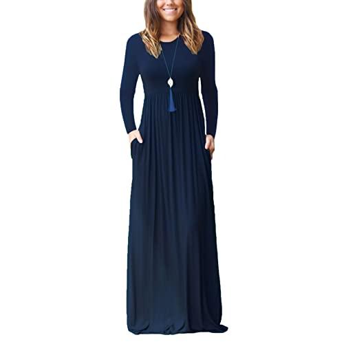 Navy Blue Dress with Long Sleeve: Amazon.c