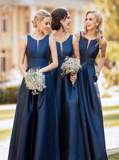 Long Bridesmaid Dresses | Sorella Vita Bridesmaid Gow