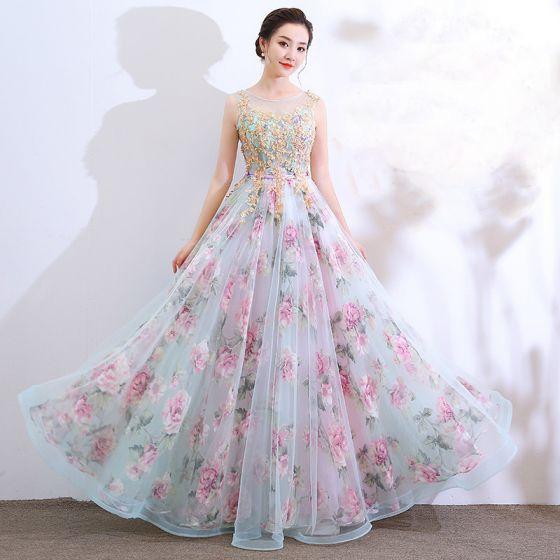 Chic / Beautiful Multi-Colors Floor-Length / Long Evening Dresses .