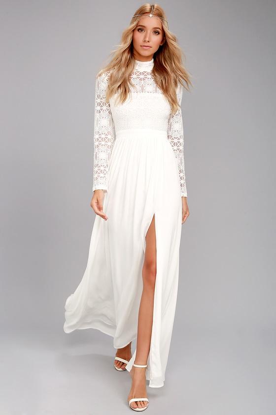 Stunning Lace Dress - White Lace Dress - Lace Maxi Dre