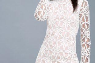Lovley White Dress - Long Sleeve Dress - White Lace Dre
