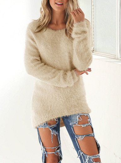 Women's Cashmere Sweater - Long Sleeve / Loose Fitti