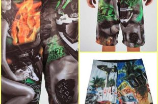 2020 Mens Board Shorts Surf Trunks Swimwear With Wax Comb Twin .
