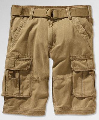Men Fashion Dresses: Belted Spike Cargo Short, Cougar - Levi's .