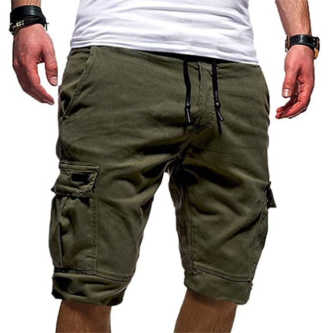 Hunauoo Mens Sport Shorts Summer Bandage Loose Sweatpants .