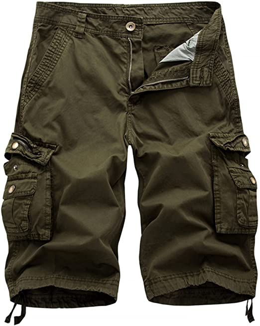 DONGD Mens Cargo Shorts Cotton Relaxed Fit Camouflage Camo Cargo .