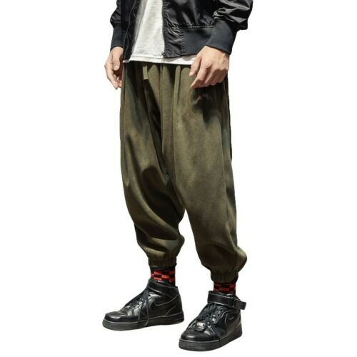 Mens Harem Pants Casual Japanese Trousers Loose Street Hip Hop .