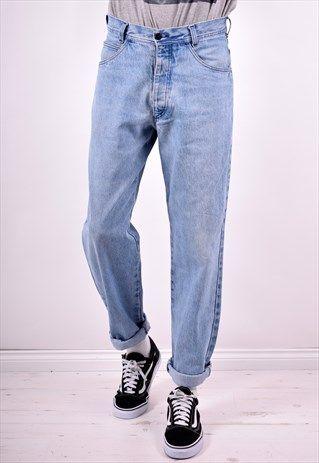 STONE ISLAND MENS VINTAGE JEANS W30 L32 BLUE 90'S | Vintage jeans .
