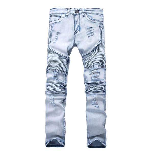 2020 New Designer Mens Jeans Skinny With Slim Elastic Denim .