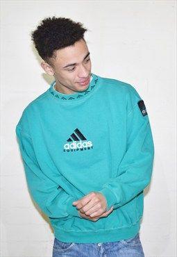 Vintage Green Adidas 90s Sweatshirt Jumper | Sweatshirts, Long .