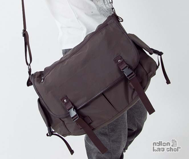 Waterproof bag for men black, coffee best messenger bag - nylon .