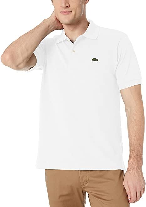 Lacoste Mens Short Sleeve L.12.12 Pique Polo Shirt at Amazon Men's .