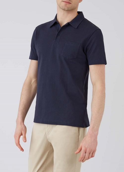Men's Cotton Riviera Polo Shirt in Navy | Sunsp