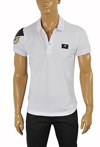 Mens Designer Clothes | FENDI Men's Polo Shirt In White #
