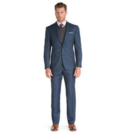 Slim Fit Sharkskin Suit - Men's Suits   JoS. A. Ba