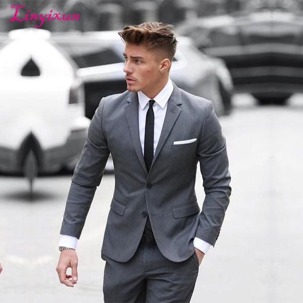 2020 Linyixun 2017 New Mens Suits Groom Tuxedos Groomsmen Wedding .
