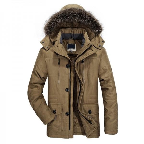 Buy 2019 New Mens long Winter Jacket Wool Liner Thick Warm Coat .