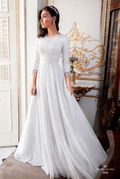 Modest wedding gowns 2017 orit (3) #ldsbride #templewedding .