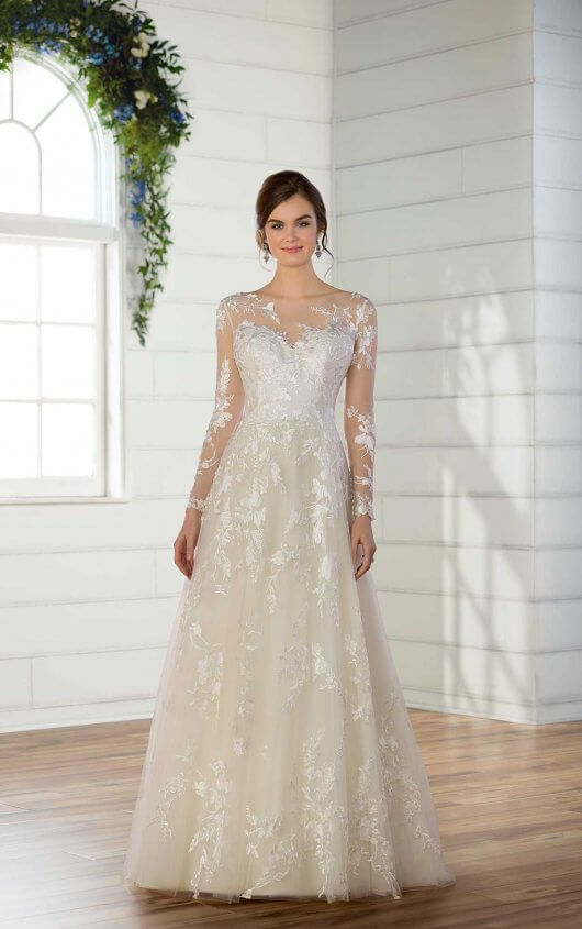 Modest Wedding Dress with Sleeves   Essense of Austral