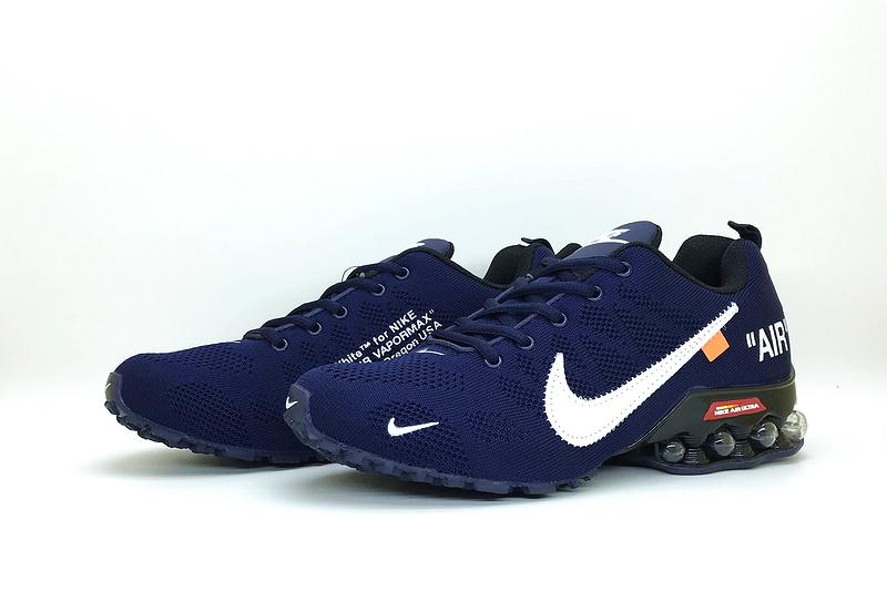 Latest Style Nike Air Shox Off White Navy Blue White Total Orange .
