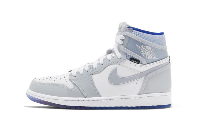 Nike Air Jordan 1 High Zoom Blue & Grey Release | HYPEB