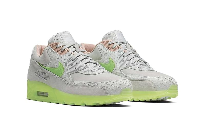"Nike Air Max 90 Premium ""Pure Platinum/Electric Green"" | HYPEBEA"