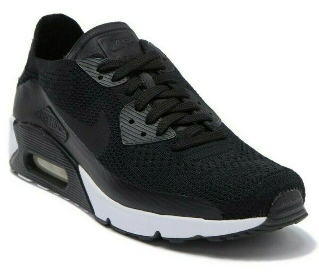 Nike Air Max 90 Ultra 2.0 Flyknit Sneaker Men's Shoes BLACK 875943 .