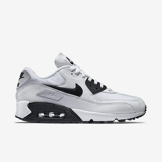 Nike Womens Shoes - Air Max 90 Essential White/Black 202-45137 .